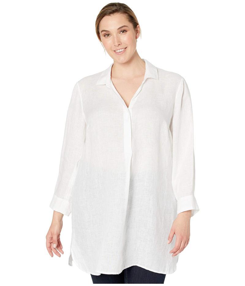 ニックプラスゾーイ レディース シャツ トップス Plus Size Spring Time Tunic Dress Paper White