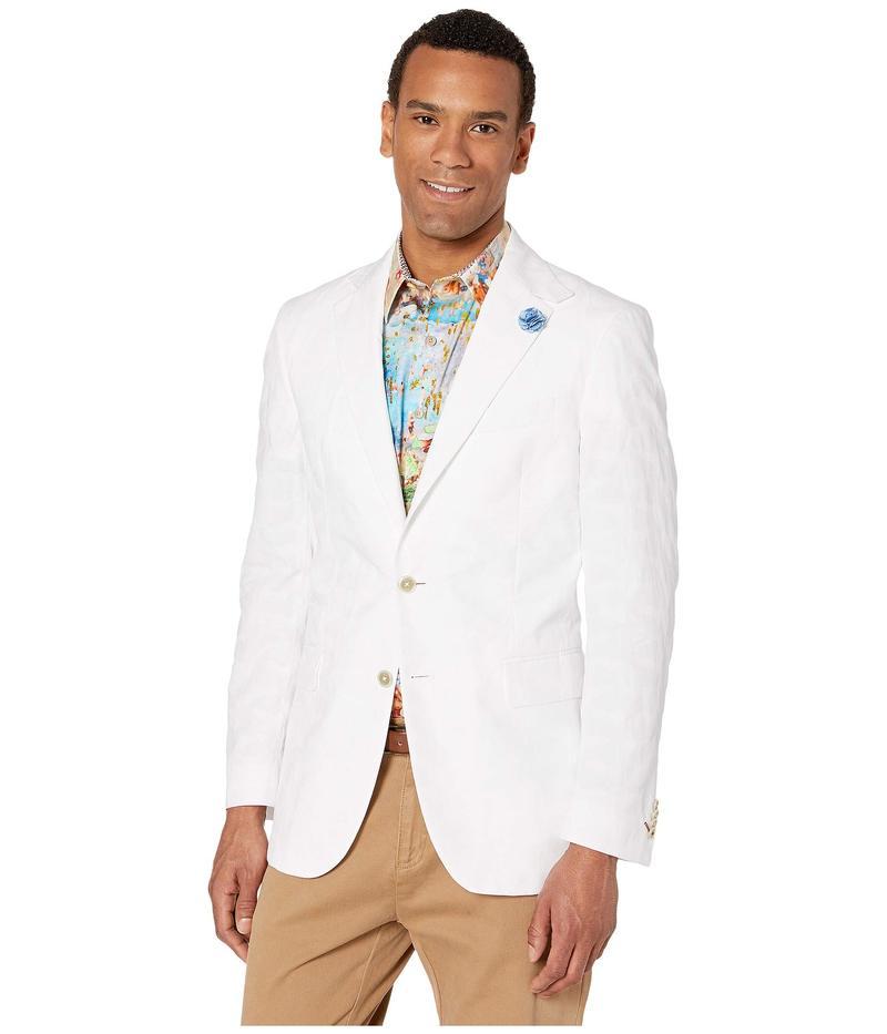 ロバートグラハム Moris メンズ コート アウター アウター Moris Woven Woven Sportcoat White, 電材工具専門店 おとくす:9bcd4c47 --- vzdynamic.com