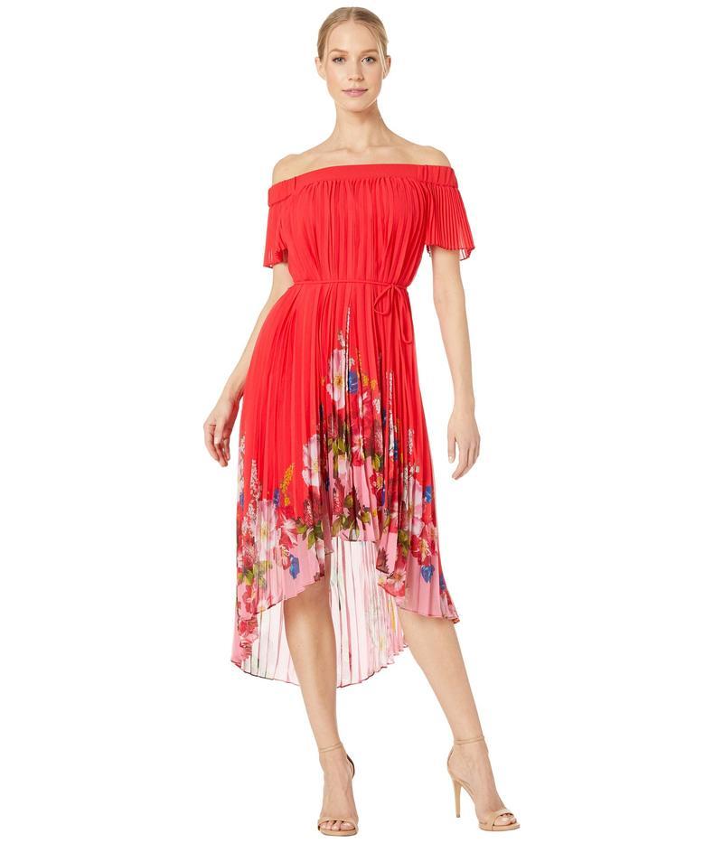テッドベーカー レディース ワンピース トップス Gillyy Berry Sundae Bardot Dress Red