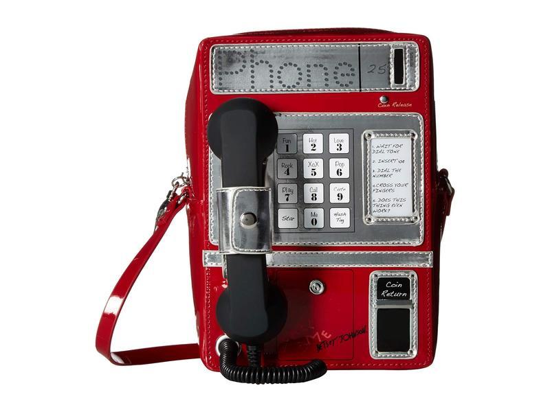 ベッツィジョンソン レディース ハンドバッグ バッグ Phone Tag Crossbody Red