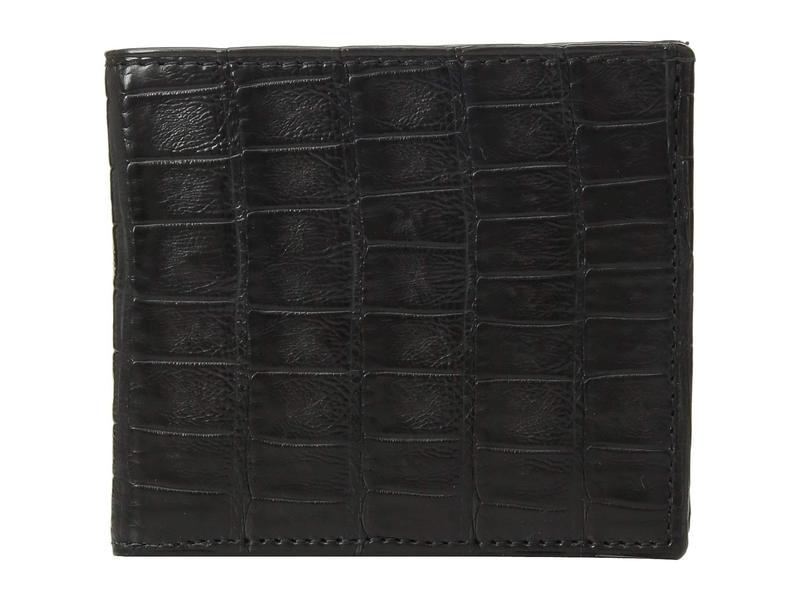 ルチーズ メンズ 財布 アクセサリー Croco Hipster Wallet Black
