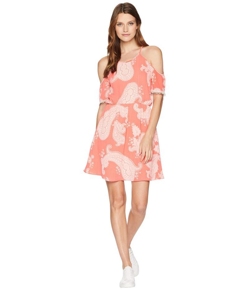 アメリカンローズ レディース ワンピース トップス Audrey Cold Shoulder Dress Coral