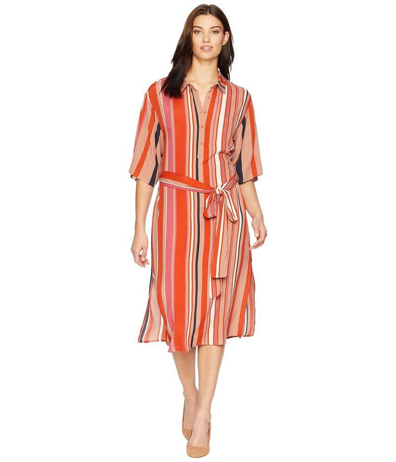 アメリカンローズ レディース ワンピース トップス Aria Collared Wrap Dress Blood Orange/Multi