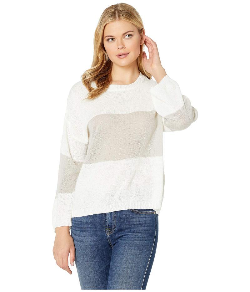 アメリカンローズ レディース ニット・セーター アウター Hesper Sweater with Stripe Off-White/Gray