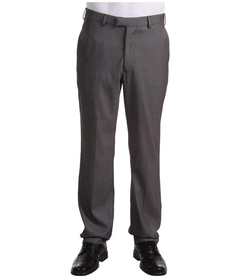 ペリーエリス メンズ カジュアルパンツ ボトムス Modern Fit Flat Front Bengaline Pant Fog Heather