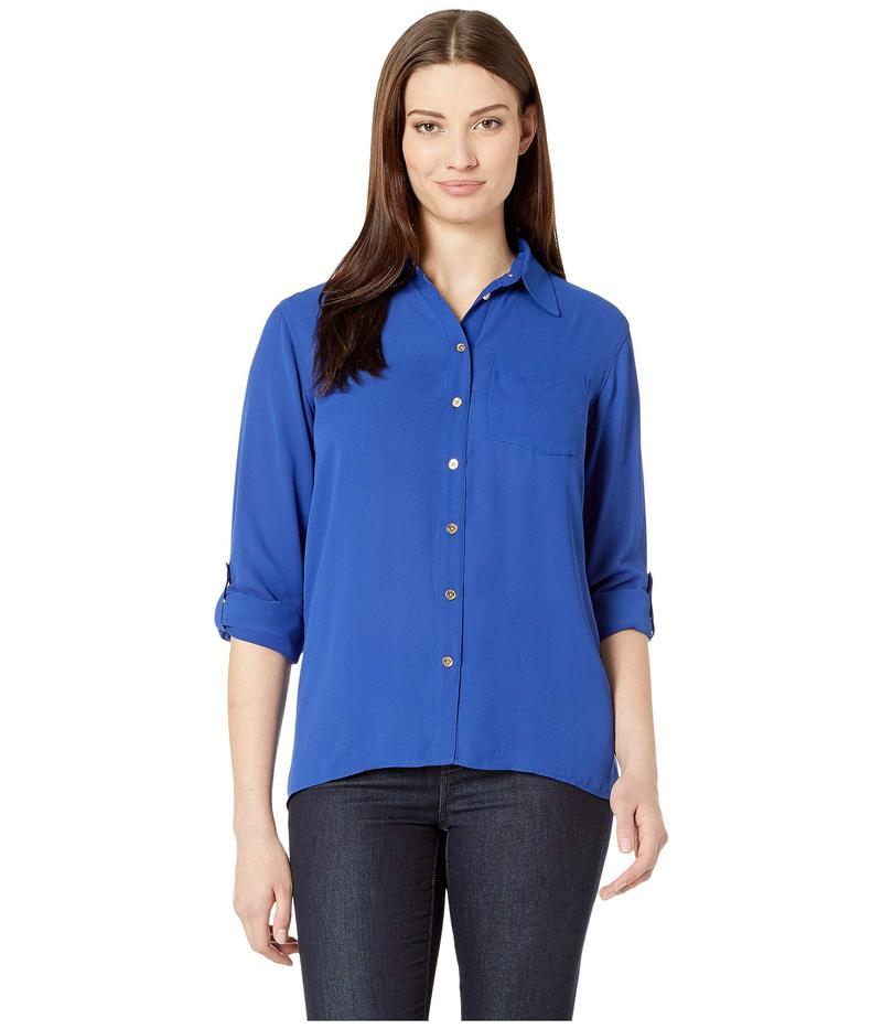 マイケルコース レディース シャツ トップス Drop Shoulder Pocket Shirt Twilight Blue
