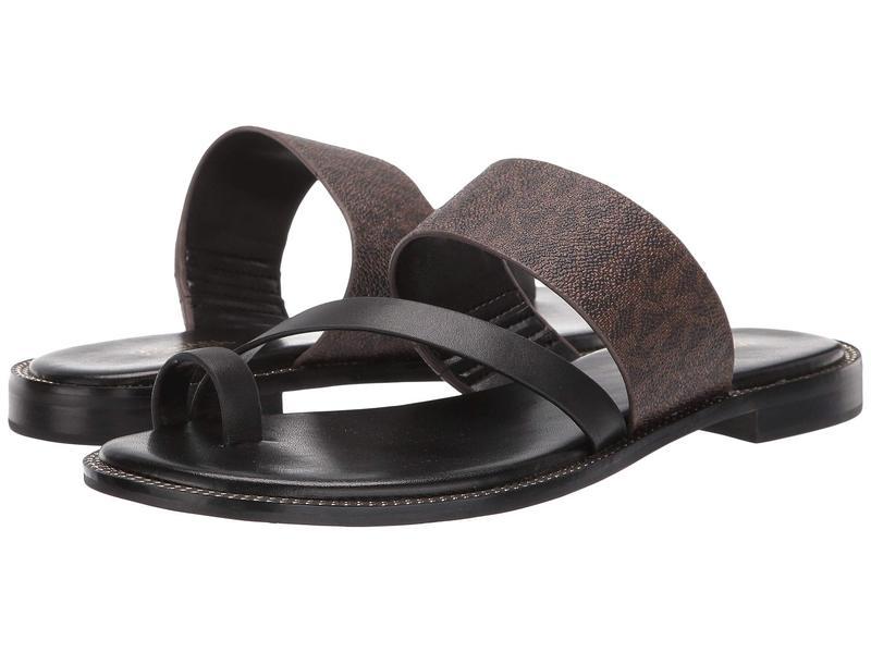 マイケルコース レディース サンダル シューズ Pratt Flat Sandal Brown/Black