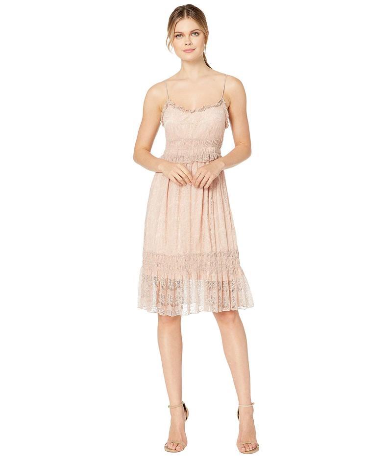 スカーリー レディース ワンピース トップス Savy Lined Tiered Lace Dress Rose