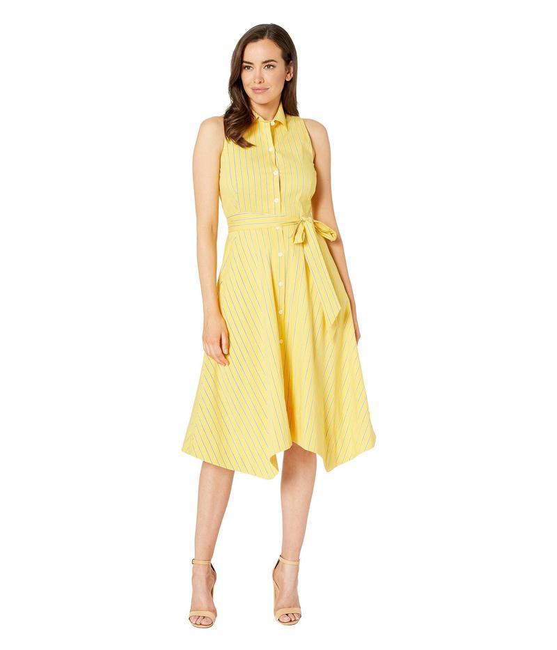タハリ レディース ワンピース トップス Sleeveless Pinstripe Button Front Summer Halter Dress Marigold/Off-White