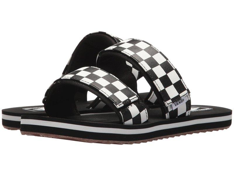 バンズ レディース サンダル シューズ Cayucas Slide (Checkerboard) Black/Marshmallow