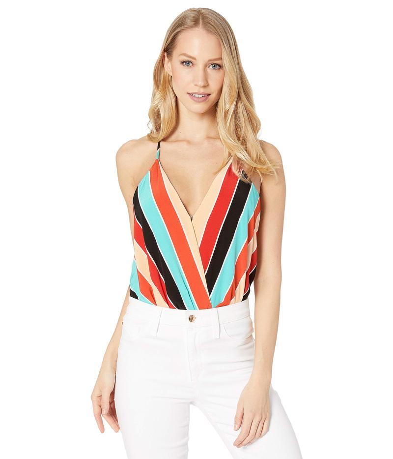 アストール レディース シャツ トップス Amber Bodysuit Aqua/Orange Stripe