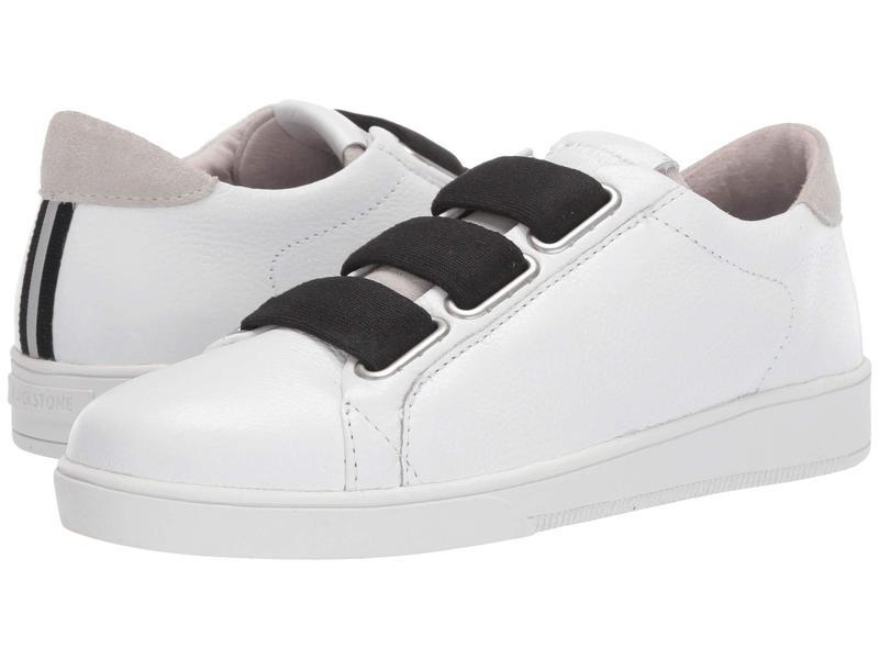 ブラックストーン レディース スニーカー シューズ Low Sneaker 3 Strap - RL82 White/Black