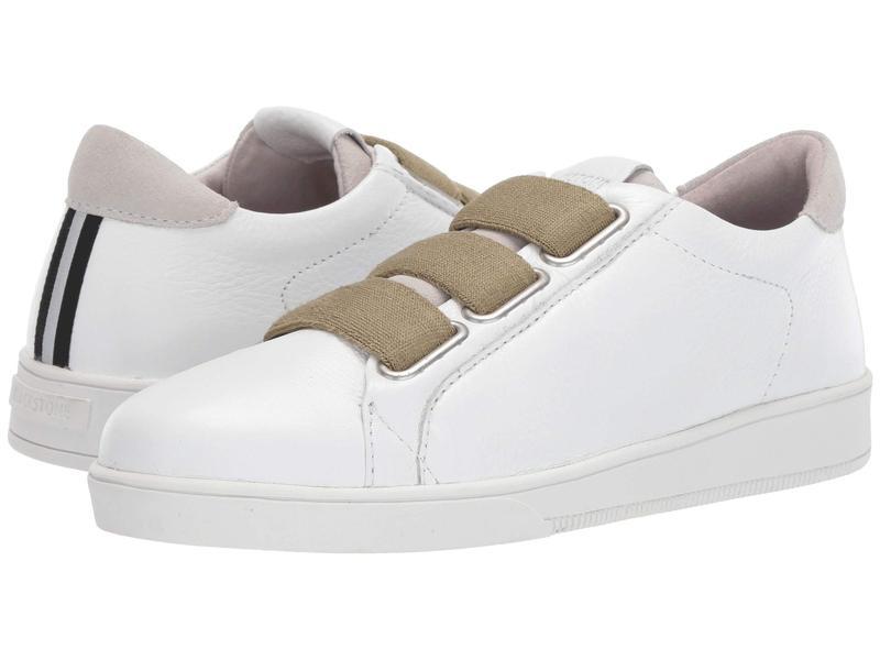 ブラックストーン レディース スニーカー シューズ Low Sneaker 3 Strap - RL82 White/Lizard