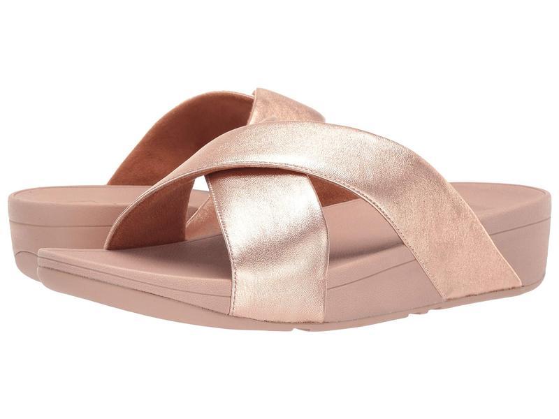 フィットフロップ レディース サンダル シューズ Lulu Cross Slide Leather Sandal Rose Gold