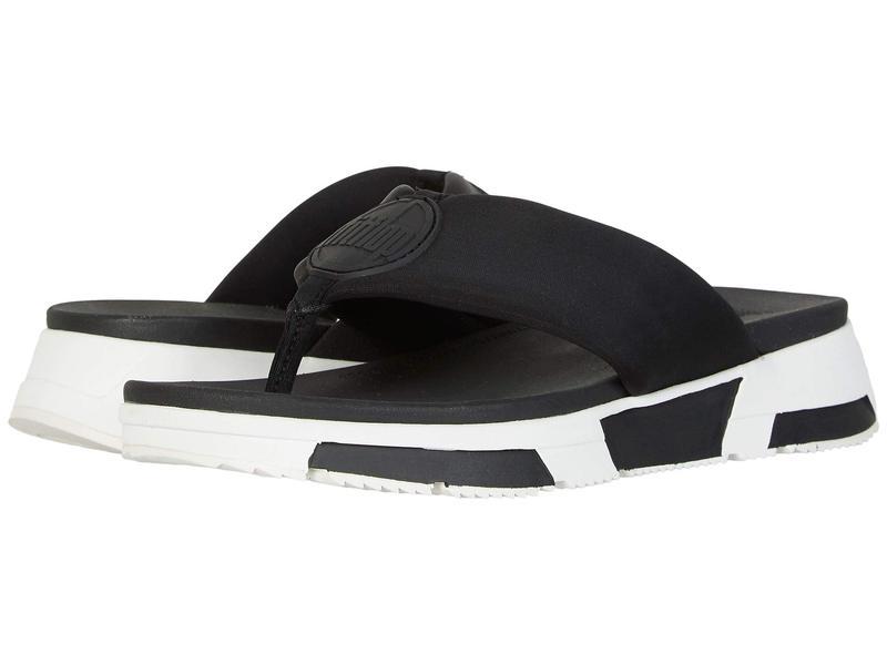 フィットフロップ レディース サンダル シューズ Sporty Logo Toe-Thong Black