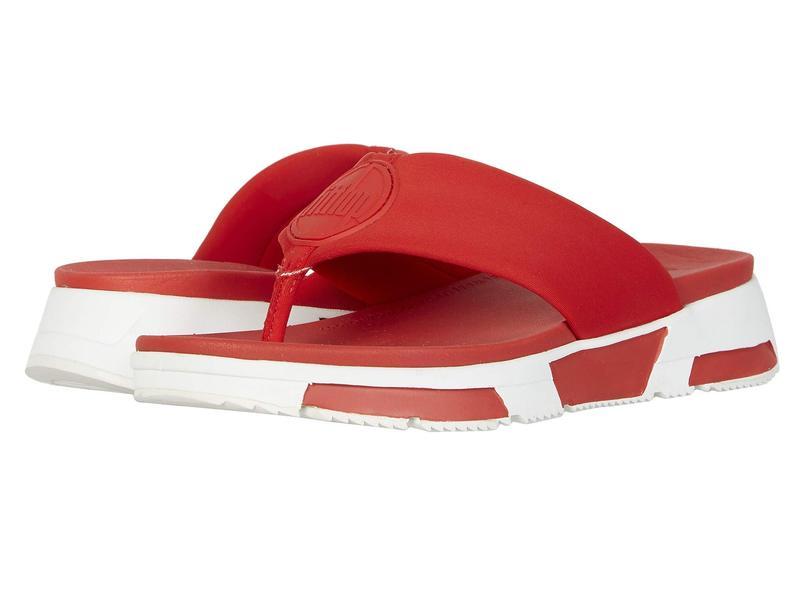 フィットフロップ レディース サンダル シューズ Sporty Logo Toe-Thong Red