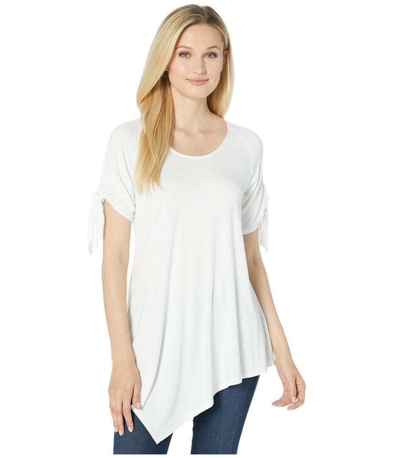 カレンケーン レディース シャツ トップス Asymmetric Tie-Sleeve Top Off-White
