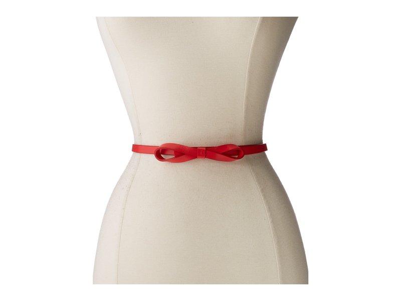 ロディス レディース ベルト アクセサリー Audrey Skinny Bow High Waist Belt Red