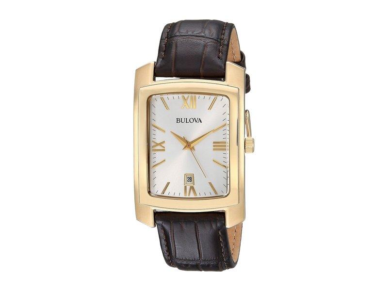 ブロバ メンズ 腕時計 アクセサリー Strap - 97B162 Brown/Gold
