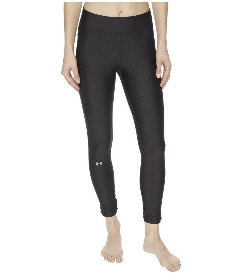 アンダーアーマー レディース カジュアルパンツ ボトムス HeatGear Armour Ankle Crop Pants Black/Black/Metallic Silver