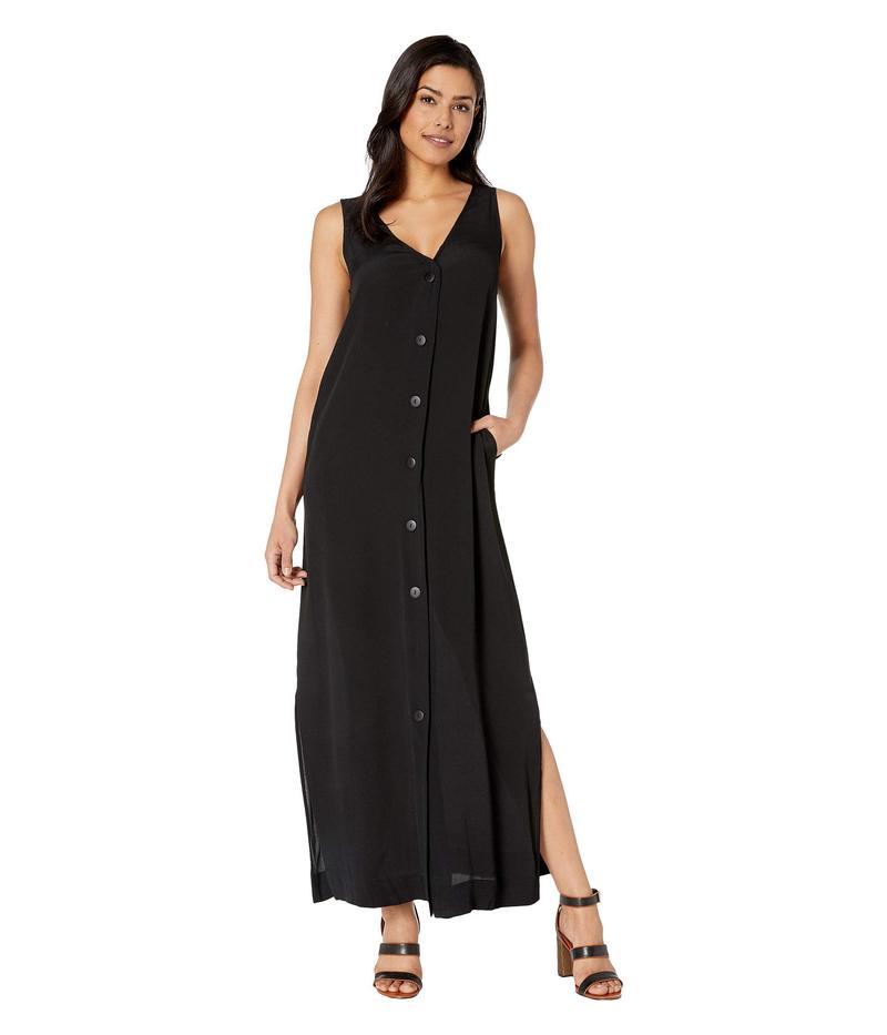 アメリカンローズ レディース ワンピース トップス Vivian Sleeveless Button Up Dress Black