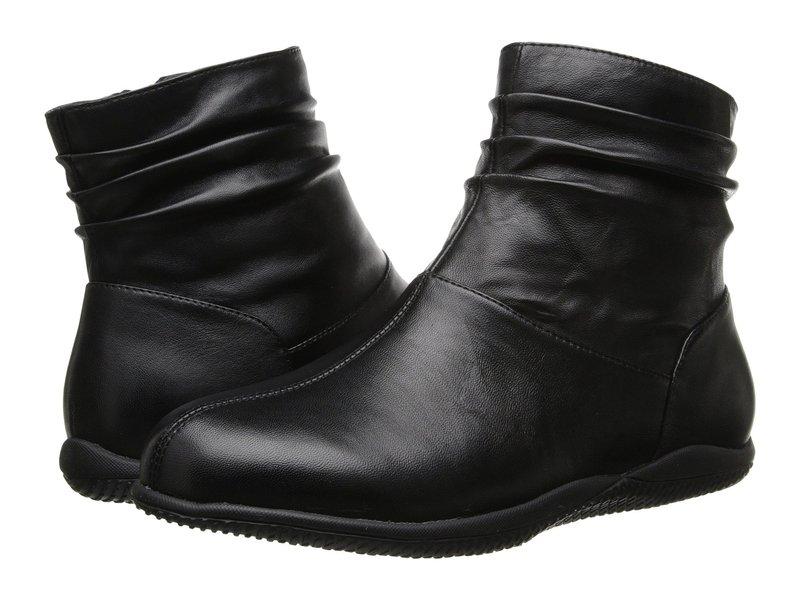 ソフトウォーク レディース ブーツ・レインブーツ シューズ Hanover Black Soft Nappa Leather