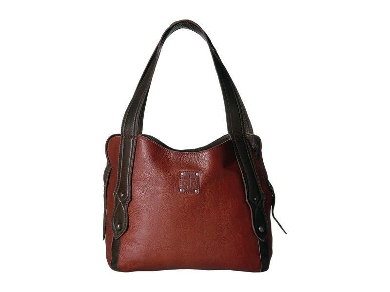 エスティエスランチウェア レディース ハンドバッグ バッグ Combo Purse Red/Brown