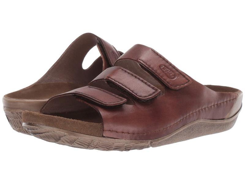 ウォルキー レディース サンダル シューズ Nomad Cognac Vegi Leather