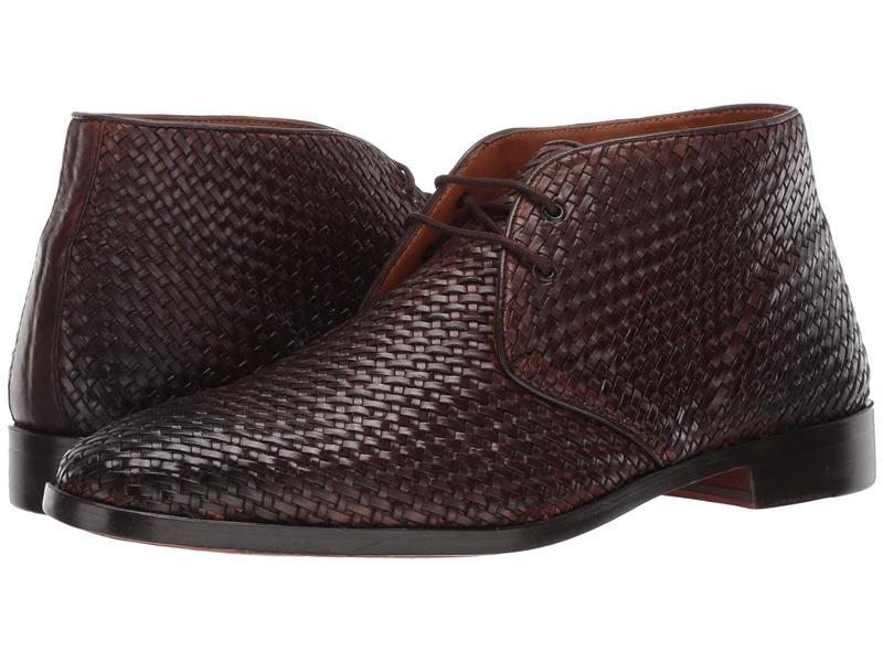 カルロスサンタナ メンズ ブーツ・レインブーツ シューズ Piano Chukka Boot Chocolate Woven Calf Leather