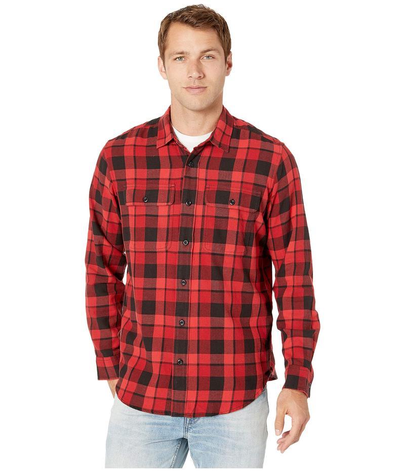 フィルソン メンズ シャツ トップス Scout Shirt Black/Sacrlet