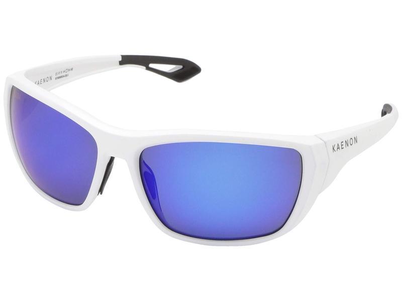 カエノン メンズ サングラス・アイウェア アクセサリー Arcata Matte White/Ultra Pacific Blue Mirror