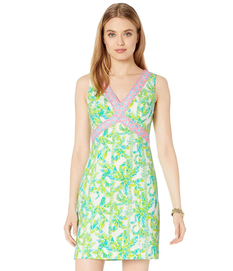 リリーピュリッツァー レディース ワンピース トップス Lanora Stretch Shift Dress Fresh Citrus Keep Palm