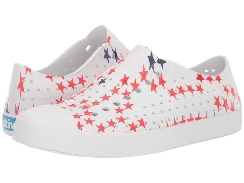 ネイティブ シューズ メンズ スニーカー シューズ Jefferson Shell White/Shell White/Little Star Print