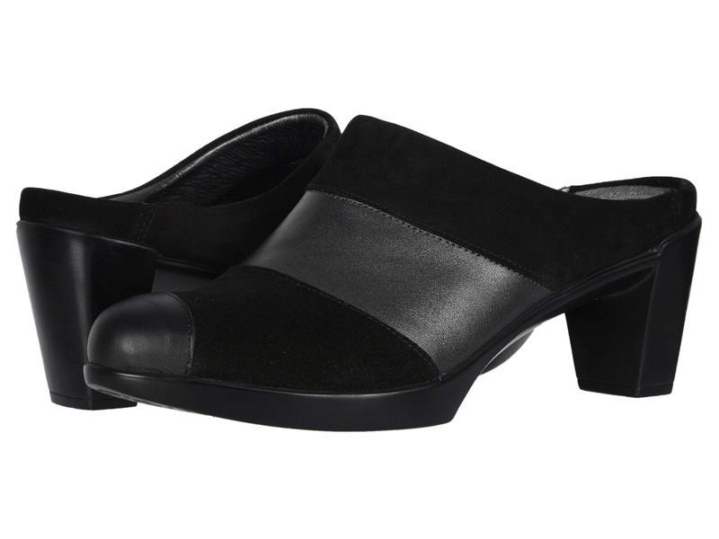 ナオト レディース ヒール シューズ Fortuna Black Velvet Nubuck/Metallic Leather/Black Suede/Black Leather