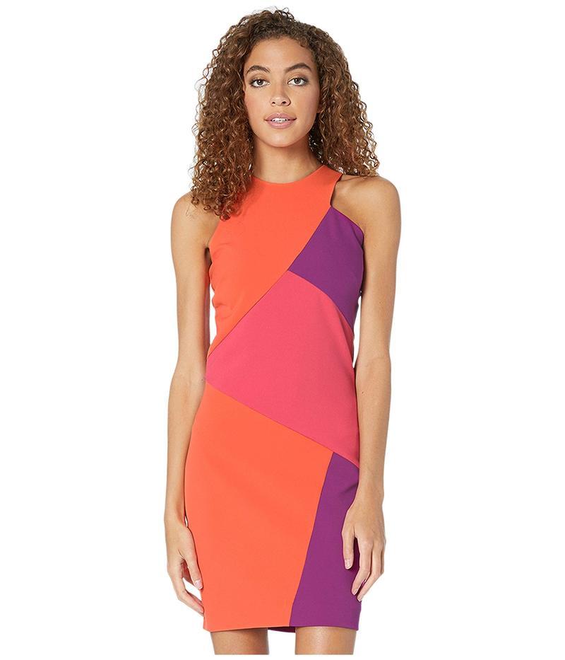 ニコルミラー レディース ワンピース トップス Color Block Sleeveless Mini Dress Multicolor