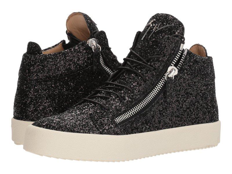 ジュゼッペザノッティ メンズ スニーカー シューズ May London Glitter High Top Sneaker Black