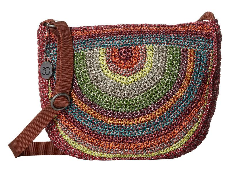 ザサック レディース ハンドバッグ バッグ Ryder Crochet Crescent Crossbody Gypsy Stripe
