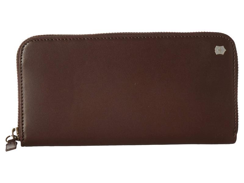 ビクトリノックス メンズ 財布 アクセサリー Altius Edge Turing Zippered Deluxe Clutch Wallet w/ RFID Dark Earth Leather