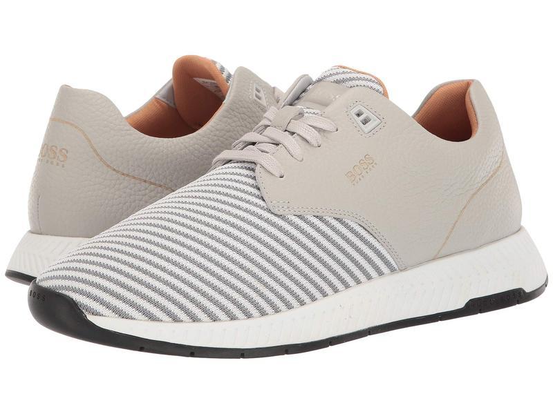 ヒューゴボス メンズ スニーカー シューズ Titanium Run Scafe Sneakers by BOSS Light Beige