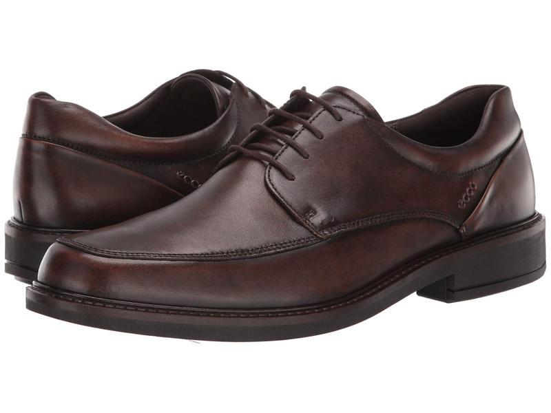 エコー メンズ オックスフォード シューズ Holton Apron Toe Tie Cocoa Brown