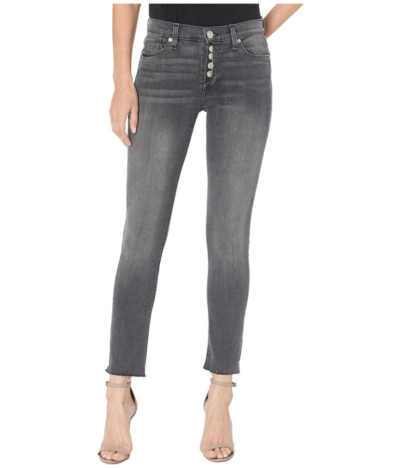 ハドソンジーンズ レディース デニムパンツ ボトムス Nico Mid-Rise Crop Skinny Jeans w/ Exposed Button Fly in Downtown Downtown