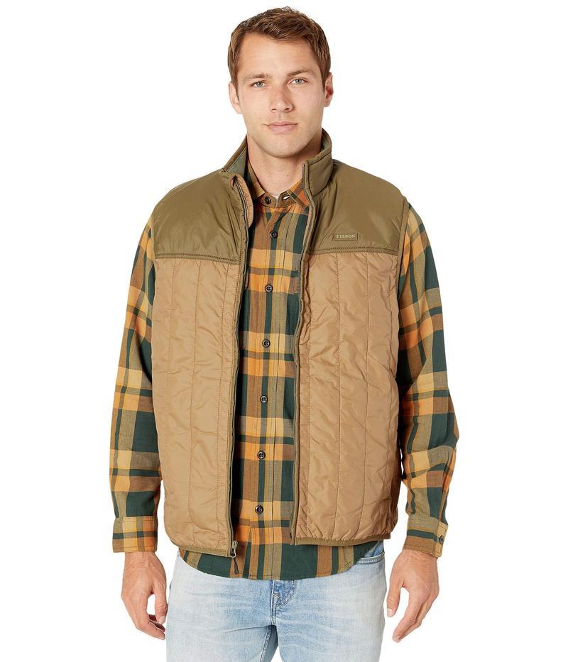 フィルソン メンズ コート アウター Ultralight Vest Dark Tan