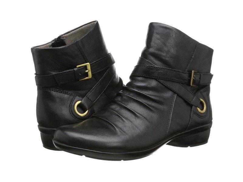 ナチュライザー レディース ブーツ・レインブーツ シューズ Cycle Black Leather