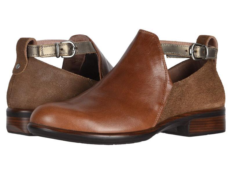 ナオト レディース ブーツ・レインブーツ シューズ Kamsin Maple Brown Leather/Antique Brown Leather/Pewter