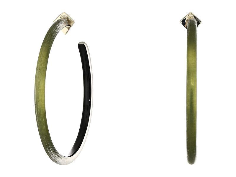 アレクシス ビッター レディース ピアス・イヤリング アクセサリー Large Skinny Hoop Earrings Ligh Sage