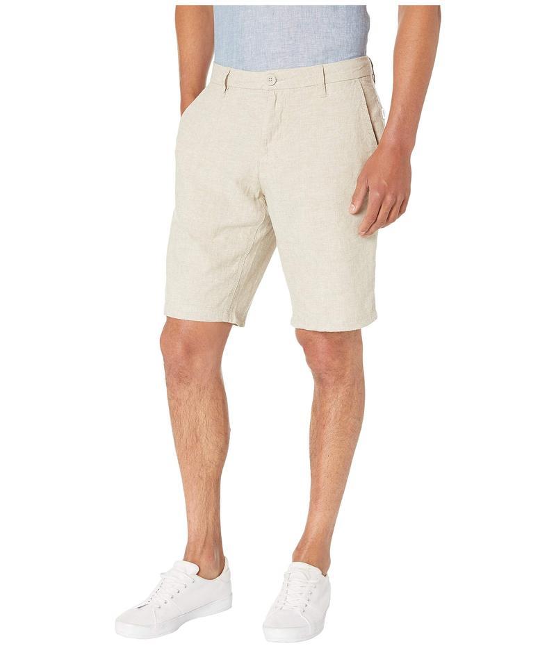 オニア メンズ ハーフパンツ・ショーツ ボトムス Austin Linen Shorts Khaki