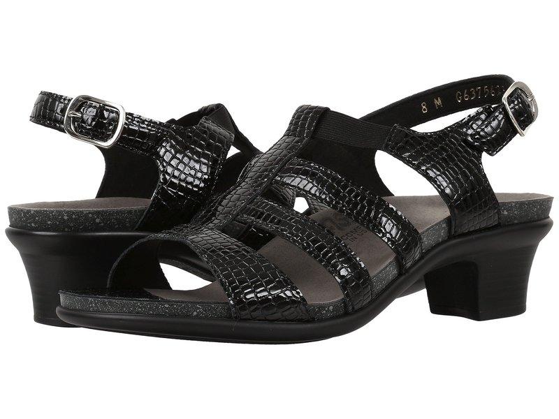 サス レディース ヒール シューズ Allegro Black Croc
