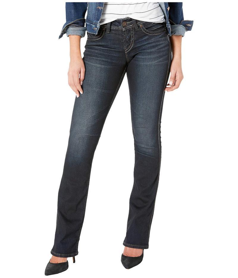 シルバー ジーンズ レディース デニムパンツ ボトムス Suki Mid-Rise Slim Boot Jeans in Indigo L93616SSX405 Indigo