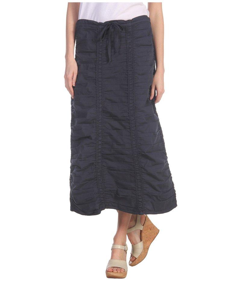 エックスシーブイアイ レディース スカート ボトムス Stretch Poplin Double Shirred Panel Skirt Anchor Navy