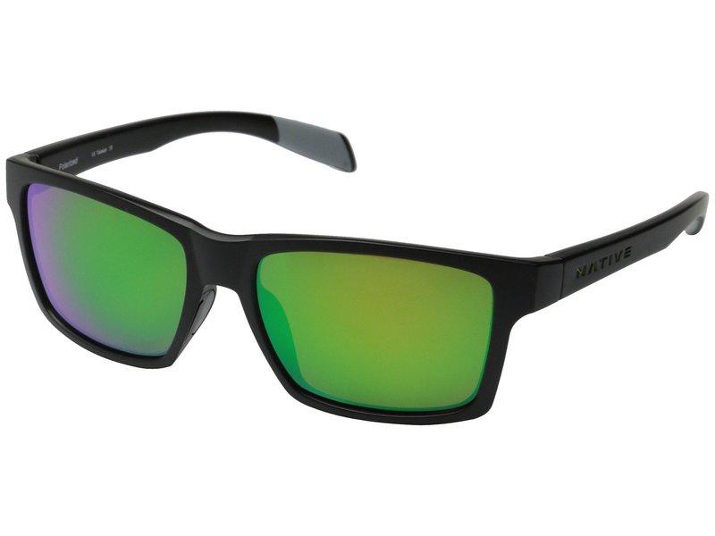 ネイティブアイウェア メンズ サングラス・アイウェア アクセサリー Flatirons Asphalt/Green Reflex